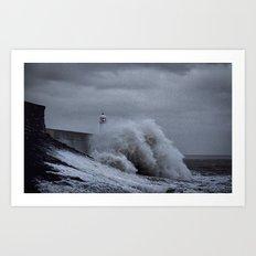 Waves at Porthcawl Art Print