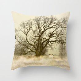 Tree Sunset Landscape Throw Pillow