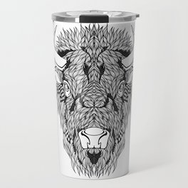 BISON head. psychedelic / zentangle style Travel Mug