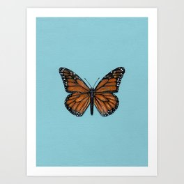 Monarch Butterfly Painting Art Print