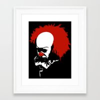 pennywise Framed Art Prints featuring Pennywise by KlatuCorp