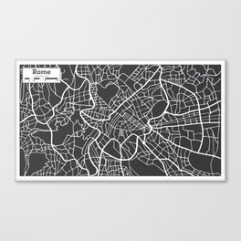 Rome Map in Retro Style. Hand Drawn. Canvas Print
