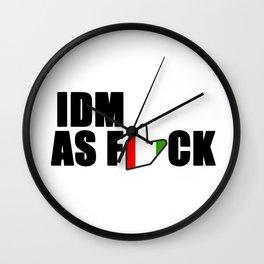 IDM AS F*CK Wall Clock