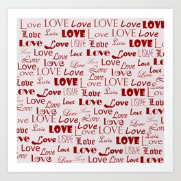 Eternal love Art Print