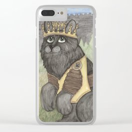 King Kitty Cat Clear iPhone Case