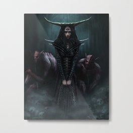 Queen of Ghouls Metal Print