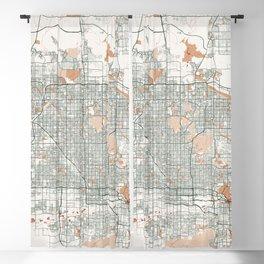 Phoenix City Map of Arizona, USA - Bohemian Blackout Curtain