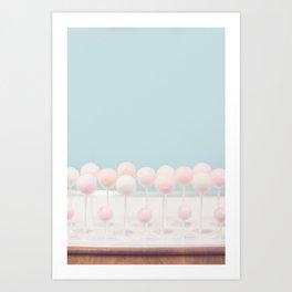 Pastel Cake Pops 13 Art Print