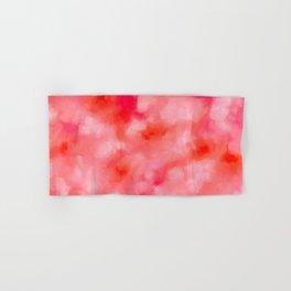 Blush Cream Coral Floral Abstract Hand & Bath Towel
