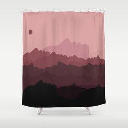 Love Mountain Range Shower Curtain