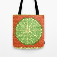 coasters Tote Bags featuring LIME MOSAIC by Tanya Pligina