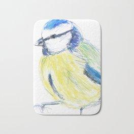 Beautiful Blue Tit Garden Bird Bath Mat