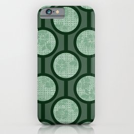 Retro-Delight - Simple Circles (Laced) - Sage iPhone Case