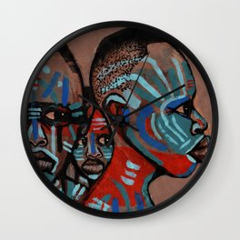 2018 Natives of the Planit of Warrior Means art by Marcellous Lovelace Wall Clock