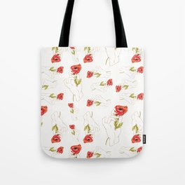 Poppy - Gold (Gilded Hands Series) Tote Bag