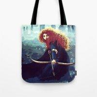 merida Tote Bags featuring Brave - Merida by Juniper Vinetree
