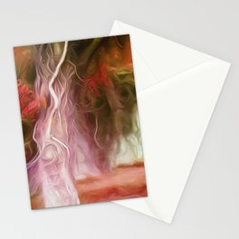 Dream Light Red Tree Stationery Cards