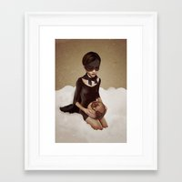 power Framed Art Prints featuring With Great Power by Ruben Ireland