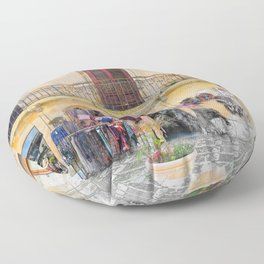 Erice art 1 Floor Pillow