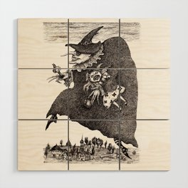 Crossing The Time Wood Wall Art