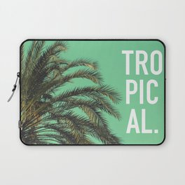 Vintage summer tropical typography palm tree photography Laptop Sleeve