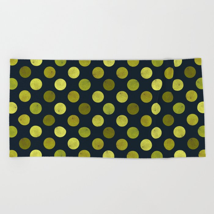 Watercolor Dots Pattern V Beach Towel