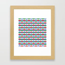 Mix of flag : Israel and Iran Framed Art Print