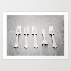 There's a fork in the road, but you never take it, always go the same way home... Art Print