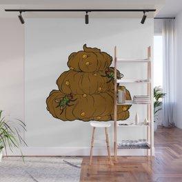 Poop & Flies Wall Mural