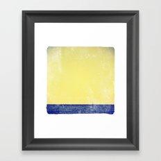 summer sail (yellow) Framed Art Print