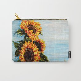 Sunflowers! Where Ocean meets Sky Carry-All Pouch