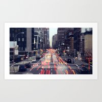 one point perspective Art Print