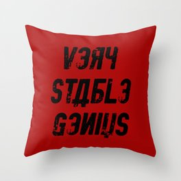 Very Stable Genius Red Throw Pillow