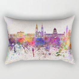 Belfast skyline in watercolor background Rectangular Pillow