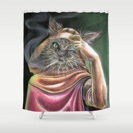 Vagabond Cat Shower Curtain