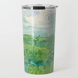 Van Gogh - Green Wheat Fields, Auvers 1890 Travel Mug