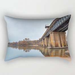 Rustic Leesylvania Bridge Rectangular Pillow