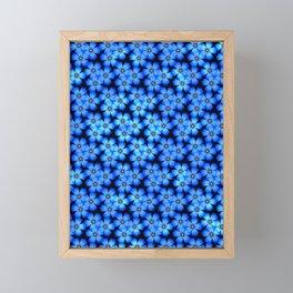 Pattern - Sunlit Blue Flowers Framed Mini Art Print