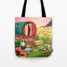 Gypsy Caravan at Sunset Tote Bag