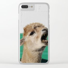 Sunny Yelling Clear iPhone Case