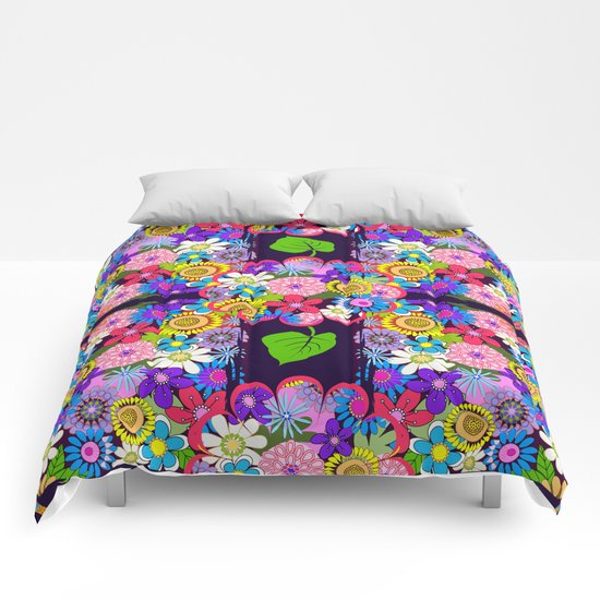 Cute Colourful Flowers Comforters