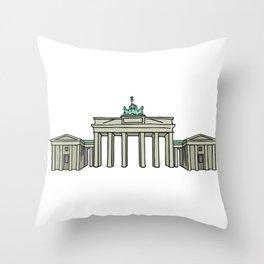 Brandenburg Gate in Berlin Throw Pillow