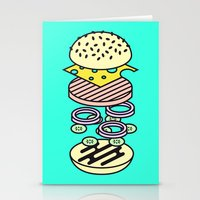 burger Stationery Cards featuring Burger by Jan Luzar