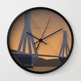 Rio-Antirio, Charilaos Trikoupis Bridge (GR) Wall Clock