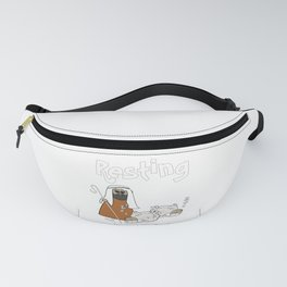 Christian Design - Sheep with Good Shepherd Resting in Green Pasture - Psalm 23 Fanny Pack