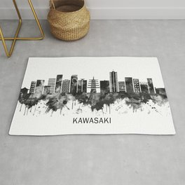 Kawasaki Japan Skyline BW Rug