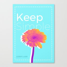 Keep Simple Flower Canvas Print