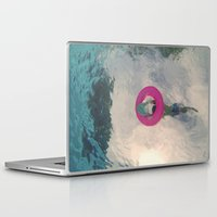 diver Laptop & iPad Skins featuring diver by signe constable