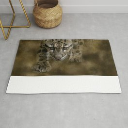 Clouded Leopard On The Hunt Rug