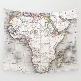 Vintage Map of Africa (1852) Wall Tapestry
